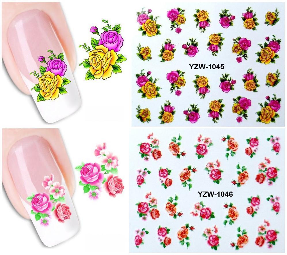 Set 2 hình xăm nước dán móng (nail sticker) mã YZW1041-1060 tốt nhất