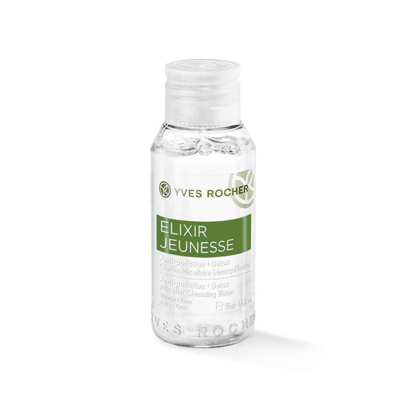 Nước cân bằng thanh lọc da Yves Rocher Mini Anti Pollution + Detox Micellar Cleansing Water 50 ml tốt nhất