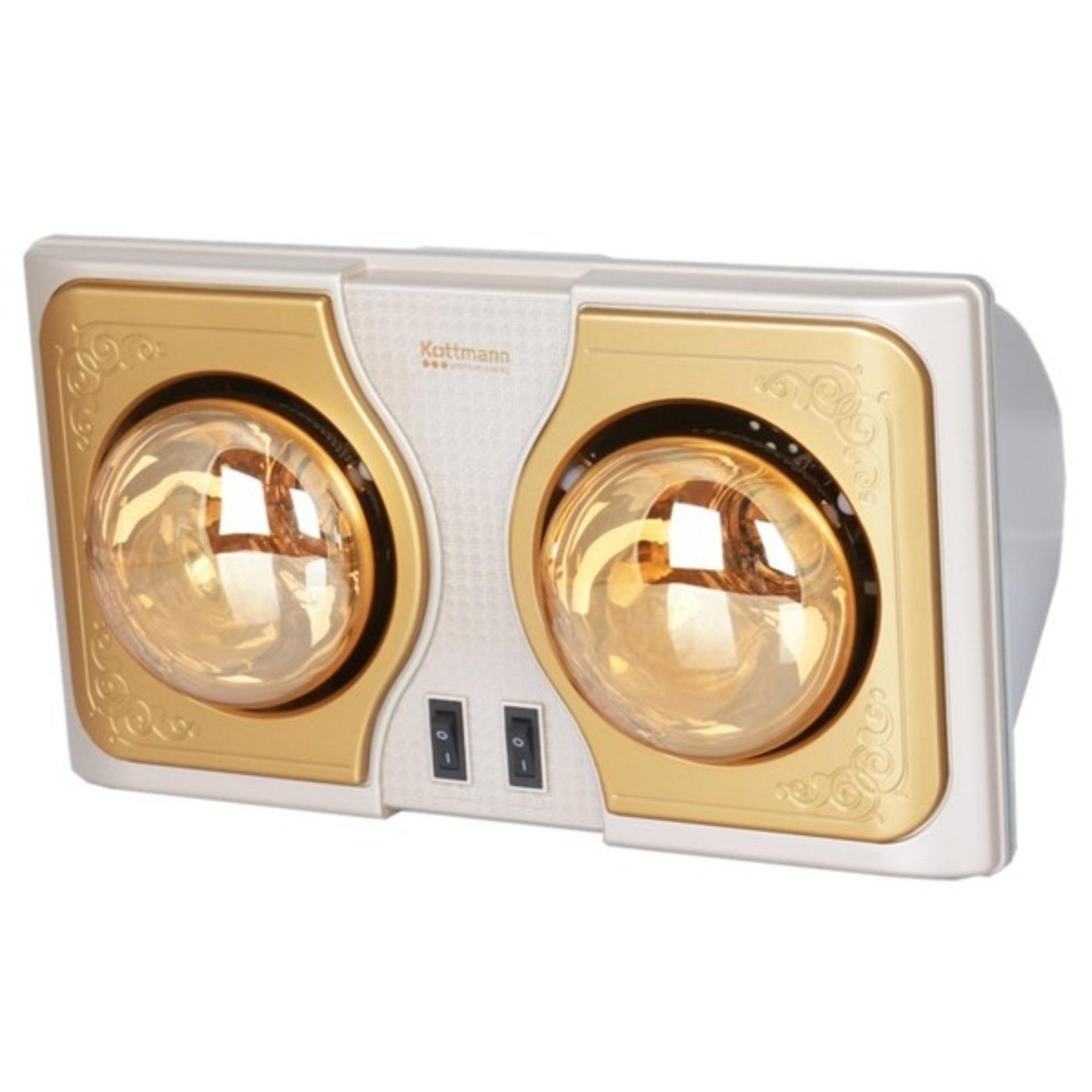 Đèn sưởi nhà tắm 2 bóng Kottman (Bảo hành 2 năm)