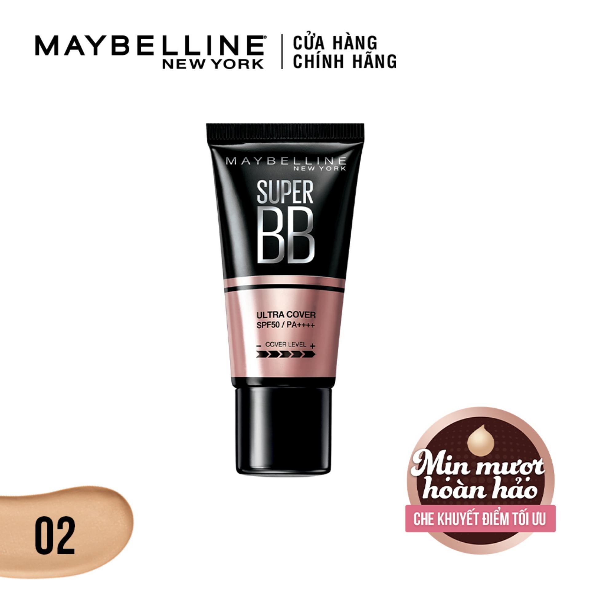 Kem trang điểm siêu mịn bảo vệ da Maybelline New York BB Super cover SPF50/PA++++ 30ml tốt nhất