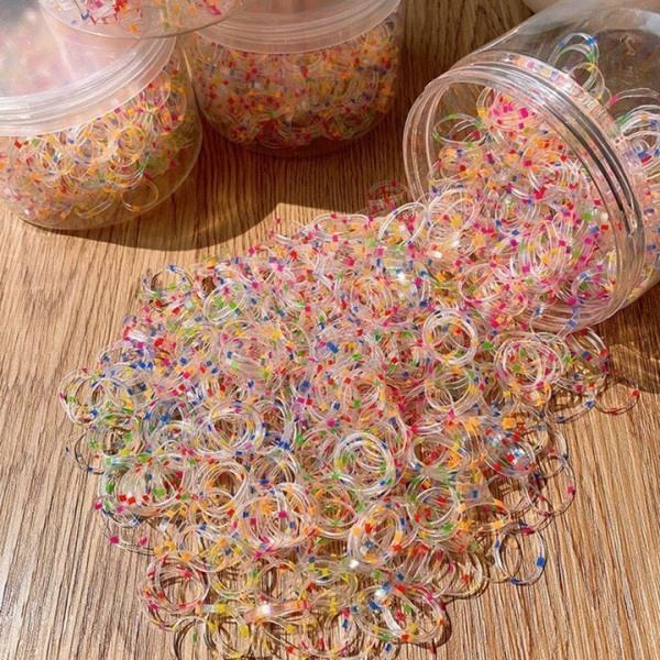 Giá bán Hộp 1000 thun cột tóc nhiều màu sắc cho bé - Chun Cột Tóc Dumi Shop