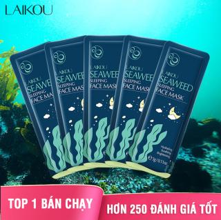 [9 miếng] Mặt nạ dưỡng da LAIKOU tinh chất tảo biển mặt nạ ngủ rong biển tái tạo phục hồi da mặt nạ chống lão hóa da mặt nạ ngủ dưỡng ẩm XP-MN201 thumbnail