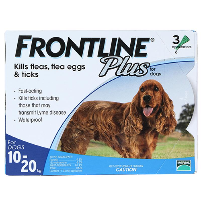 Frontline® Plus size M cho chó từ 10k - 20 kg (1,34ml/ống x 3 ống/hộp)