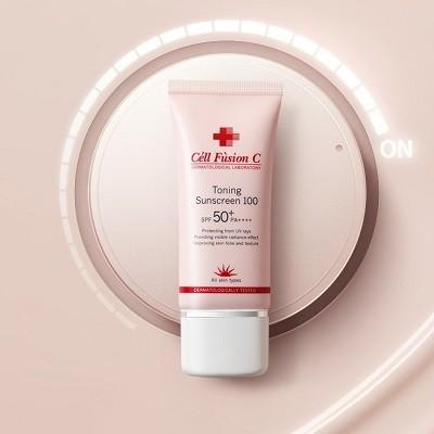 Kem chống nắng nâng tone Cell Fusion C Toning Sunscreen 100 SPF 50+ PA++++