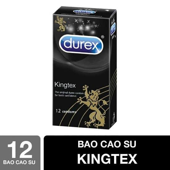Bao cao su size nhỏ Durex Kingtex - Ôm khít không lo tuột bao hộp 12 chiếc