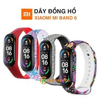 Dây đồng hồ Xiaomi Mi Band 6 silicone cao cấp siêu mềm phong cách thời trang nhiều màu - Dây silicon MiBand 6 thumbnail