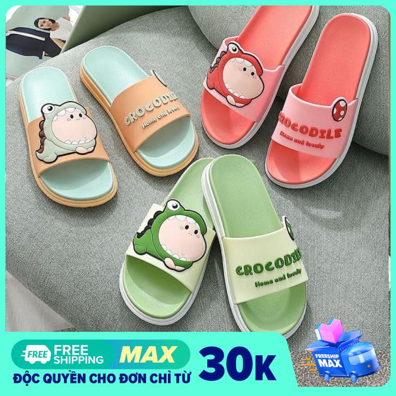 [ FREESHIP MAX ] Dép Cá Sấu Crocodile Đế Hai Lớp Siêu Mềm | Dép Quai Ngang Nữ HOT 2020 | Minh Thư Shoes giá rẻ