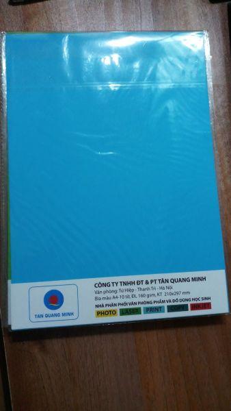 Bìa Màu ốp ngoại A4 -đủ màu sắc thích hợp mọi mục đích sử dụng(giấy định lượng 160gsm)