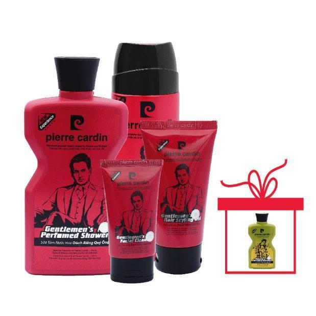 Bộ mỹ phẩm 4 món Gentlemen - Pierre Cardin tặng kèm Dầu Gội nước hoa playboy 180g tốt nhất