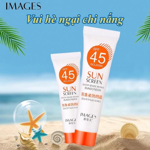 Kem chống nắng dưỡng da Images SPF45 PA+++ 15g lâu trôi dưỡng ẩm kiềm dầu XP-S10