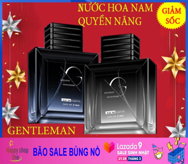 [ĐẲNG CẤP] Nuoc Hoa Nam Gentleman, Nước Hoa Nam Cao Cấp Thơm Lâu Nam Tính, Mạnh Mẽ 💖 Đẳng Cấp Phái Mạnh, Thể Tích 50ml giá rẻ
