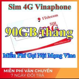 Sim 4G Vina - 90GB tháng + Miễn Phí Gọi Nội Mạng Vinaphone (Giống như sim 4G Vinaphone VD89P) thumbnail