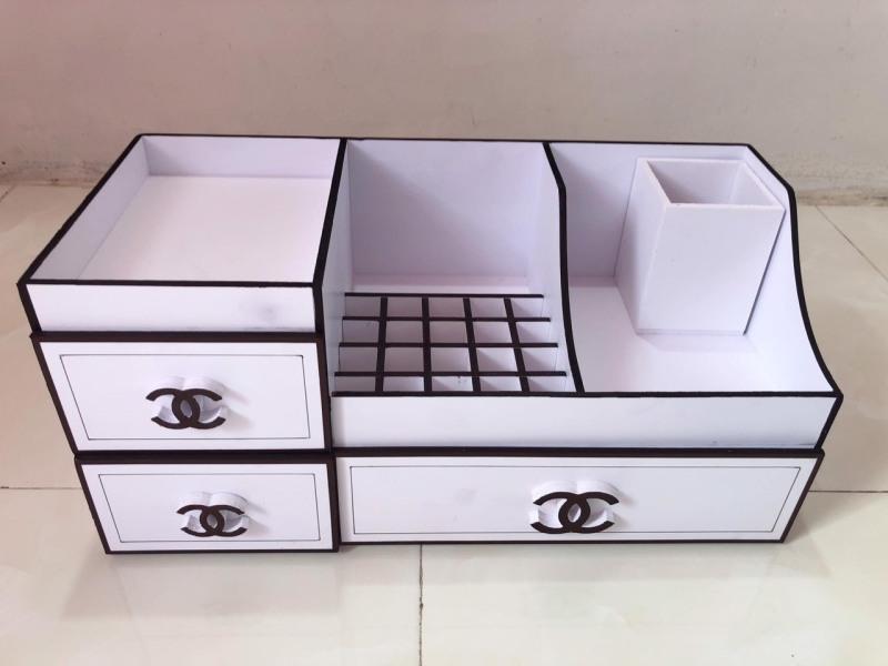 ( hàng có sẵn ) Tủ Hộp đựng mỹ phẩm trang sức, size to 45cm, khay son siêu tiện lợi