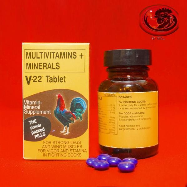 MUTIVITAMIN + MINERALS sung hưng, tăng cơ cho gà đá 1 HỘP 100 VIÊN
