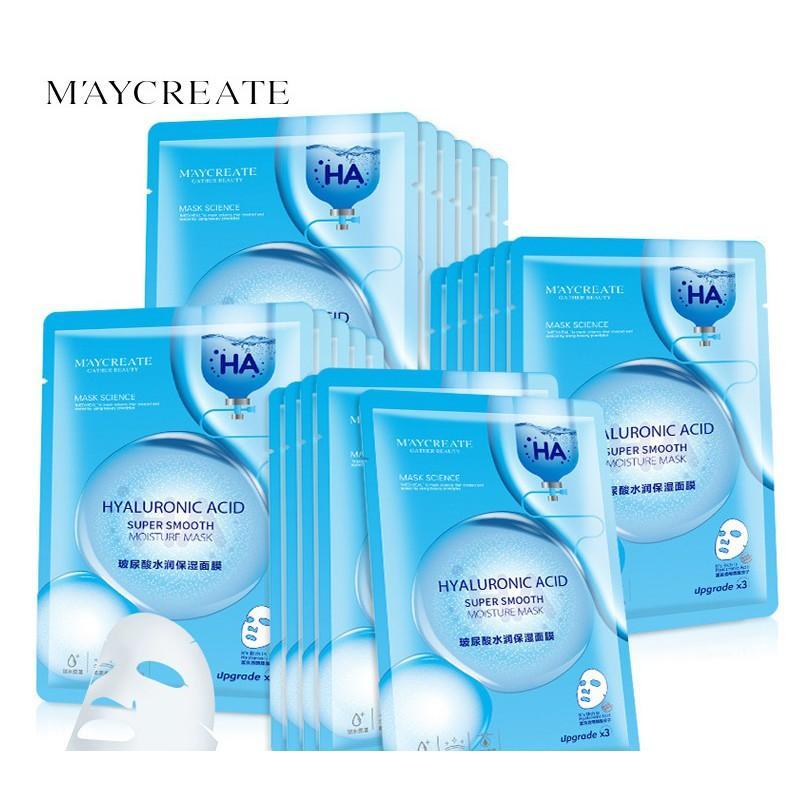 Combo 20 miếng mặt nạ đắp HA MayCreate dưỡng trắng cấp ẩm cho da phiên bản mới dùng thử siêu chất lượng