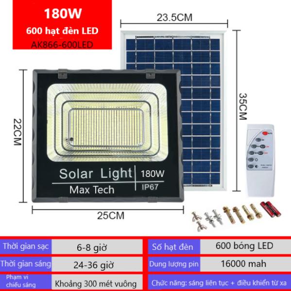 ĐÈN NĂNG LƯỢNG MẶT TRỜI CHÍNH HÃNG MAX TECH SOLAR LIGHT 45W - 60W -80W -100W - 180W - ĐIỀU KHIỂN TỪ XA - PIN SẠC TRỌN DỜI - D1145