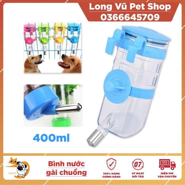 Bình nước treo chuồng cho chó mèo 400ml cấp nước tự động