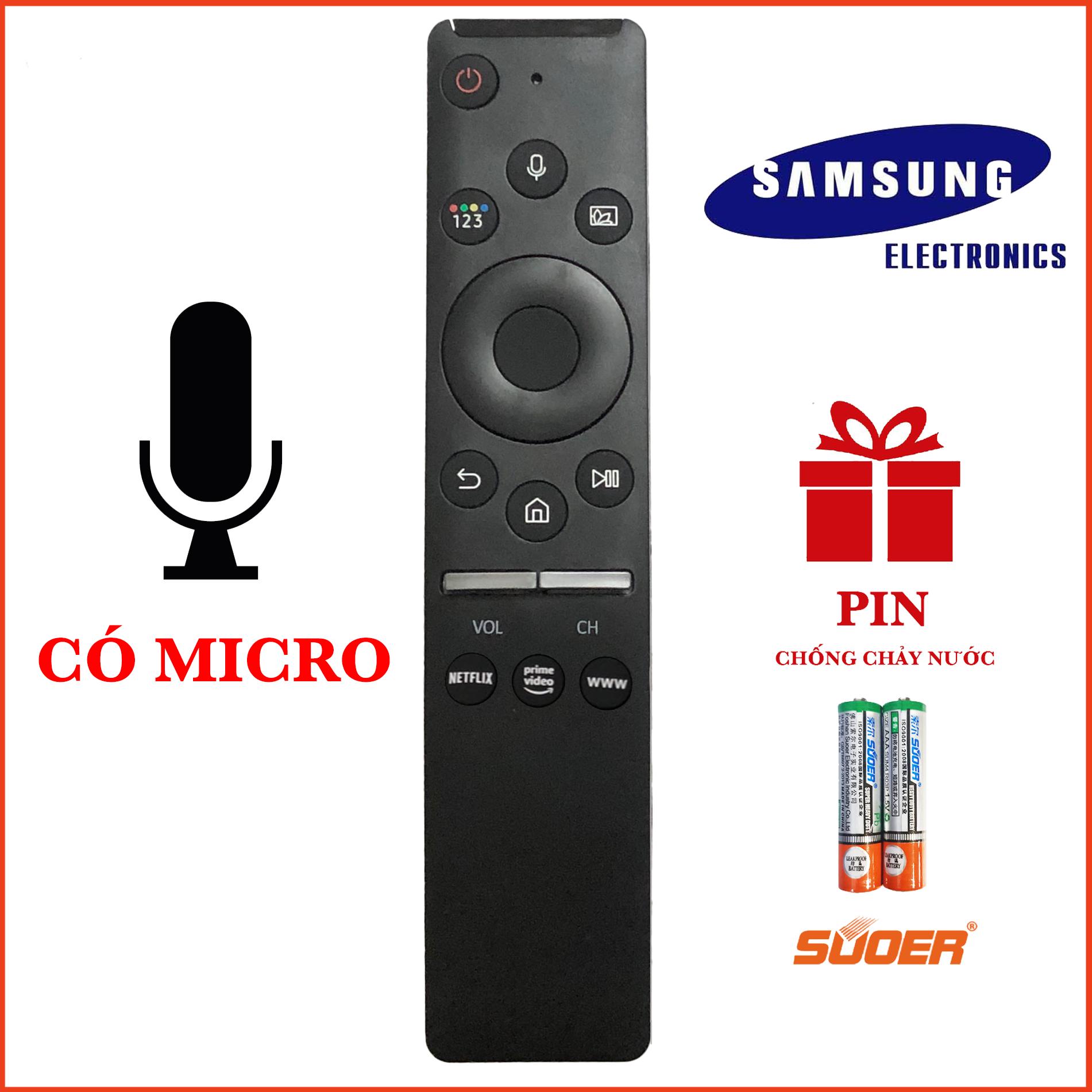 Remote Điều Khiển TV SAMSUNG SMART CÓ CHỨC NĂNG GIỌNG NÓI ONE SAMSUNG HÀNG CHÍNH HÃNG MICRO