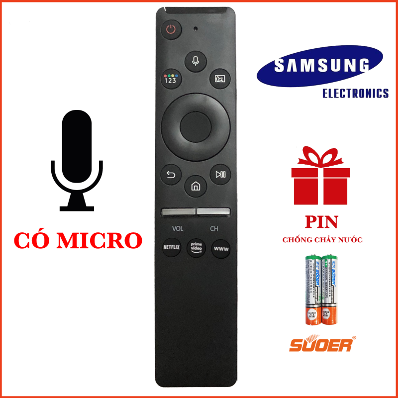 Điều khiển TV SAMSUNG SMART 4K CÓ MICRO CAO CẤP HÀNG CHÍNH HÃNG chính hãng
