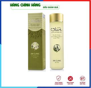 [Hàng Nhập Khẩu Hàn Quốc] Nước hoa hồng dưỡng trắng da tinh chất dầu Olive 3W Clinic Hàn Quốc 150ml thumbnail