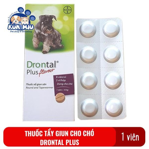 1 Viên Thuốc Tẩy Giun Sán Cho Chó Drontal Plus Flavour