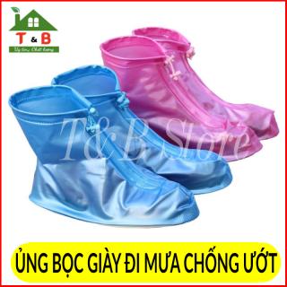 Ủng bọc giày , ủng đi mưa đi mưa có đế chống trơn trượt , chống nước hiệu quả cho cả nam và nữ
