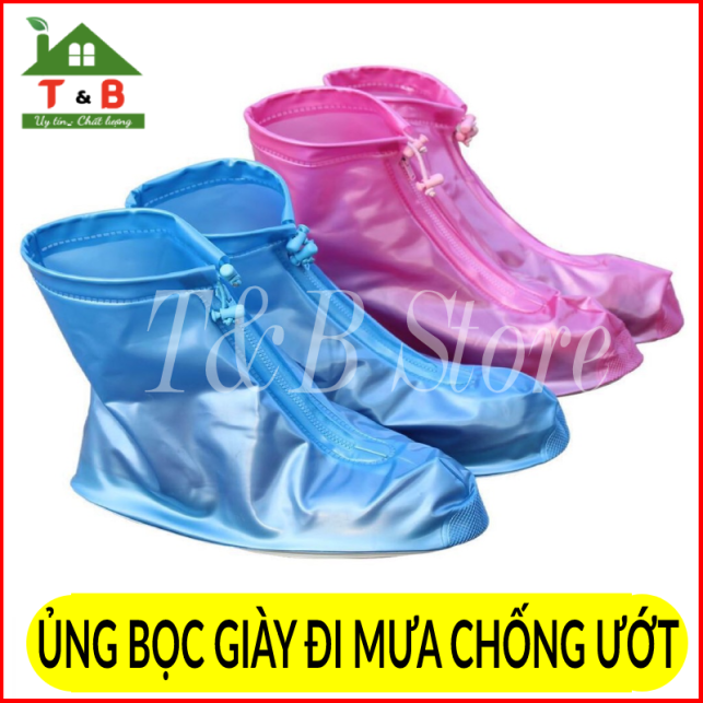 Ủng bọc giày , ủng đi mưa đi mưa có đế chống trơn trượt , chống nước hiệu quả cho cả nam và nữ giá rẻ