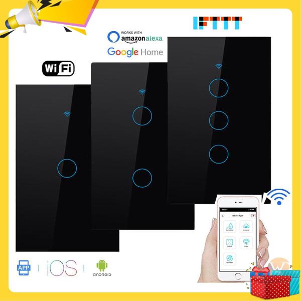 Công tắc Wifi, Công tắc thông minh, Công Tắc Wifi  RF433 Tuya Smart Life, Thiết kế thông minh, Sang trọng, Tương thích với các thiết bị thông minh Google Home và Alexa, Hàng chính Hãng, Bảo Hành Uy Tín