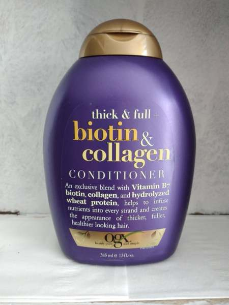 Dầu xả Thick & Full Biotin & Collagen OGX 385 ml