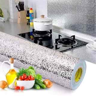 [M] Giấy bạc dán tường nhà bếp - Cuộn 3 Mét Decal Giấy Dán Bếp Tráng Nhôm Cách Nhiệt (3 Mét Dài x 0.6 Mét Rộng) thumbnail