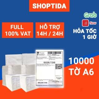 Giấy in nhiệt Shoptida 10000 tờ A6 10 15cm 3 lớp tự dán chống nước, sử dụng cho máy in nhiệt Shoptida SP46 thumbnail