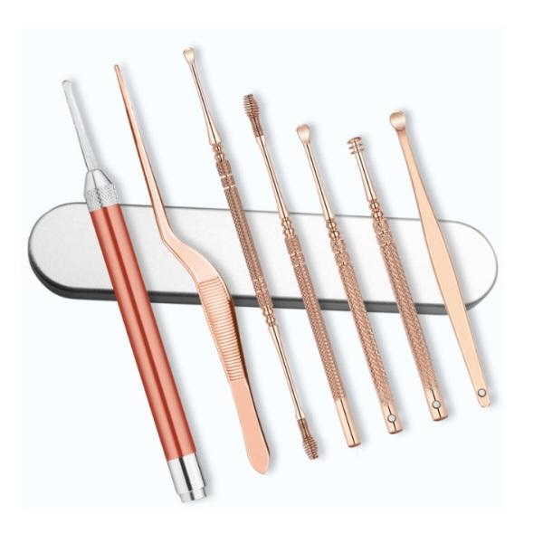 Bộ lấy ráy tai 6 món tích hợp đèn soi dễ quan sát trong tai