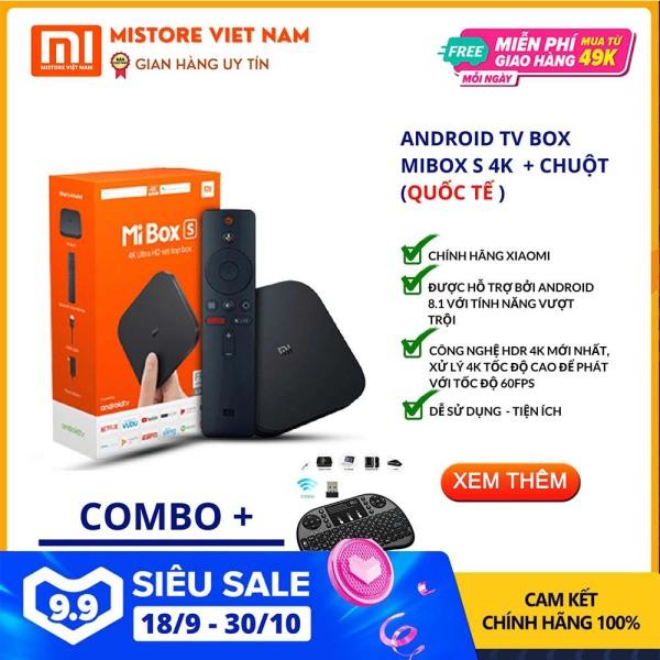 Bảng giá 【FREESHIP XTRA】[COMBO MIBOX S 4K + 01 BỘ CHUỘT BAY GIẢM 45%] Android Tivi Box Xiaomi Mibox S 4K bản Quốc Tế (Android 9.0) CHÍNH HÃNG XIAOMI - Mistore Việt Nam