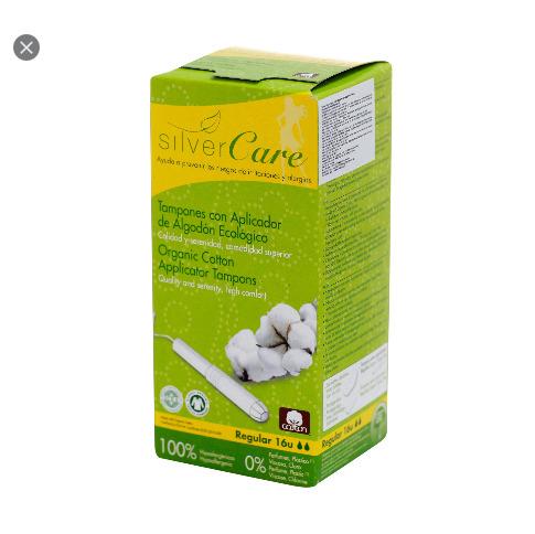 Tampon Hữu Cơ 2 Giọt Có Cần Đẩy Silvercare cao cấp