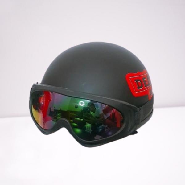 Mũ bảo hiểm nửa đầu Deadpool Tặng kính UV 7 Màu (Mũ phượt 1/2)