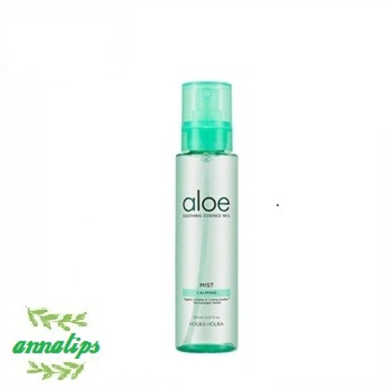 Xịt khoáng Holika Holika chiết xuất lô hội Aloe Soothing Essence 98% Mist Calming 150ml az1 cao cấp