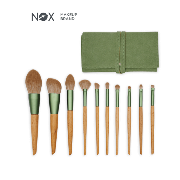 NOXBEAUTY 10 PCS Makeup Brush Set giá rẻ