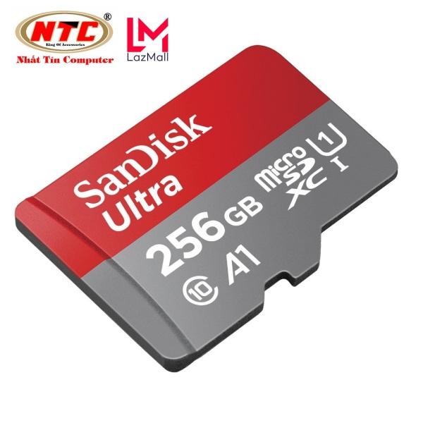 Thẻ nhớ MicroSDXC SanDisk Ultra A1 256GB Class 10 U1 100MB/s box Anh - No Adapter (Đỏ) - Nhat Tin Certified Store