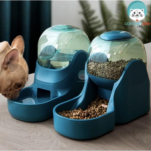 Khay ăn tự động chó mèo nghiêng 15 độ của Hippie Dog-  Chén ăn nhả hạt, thả hạt thông minh Con Mèo Xiêm