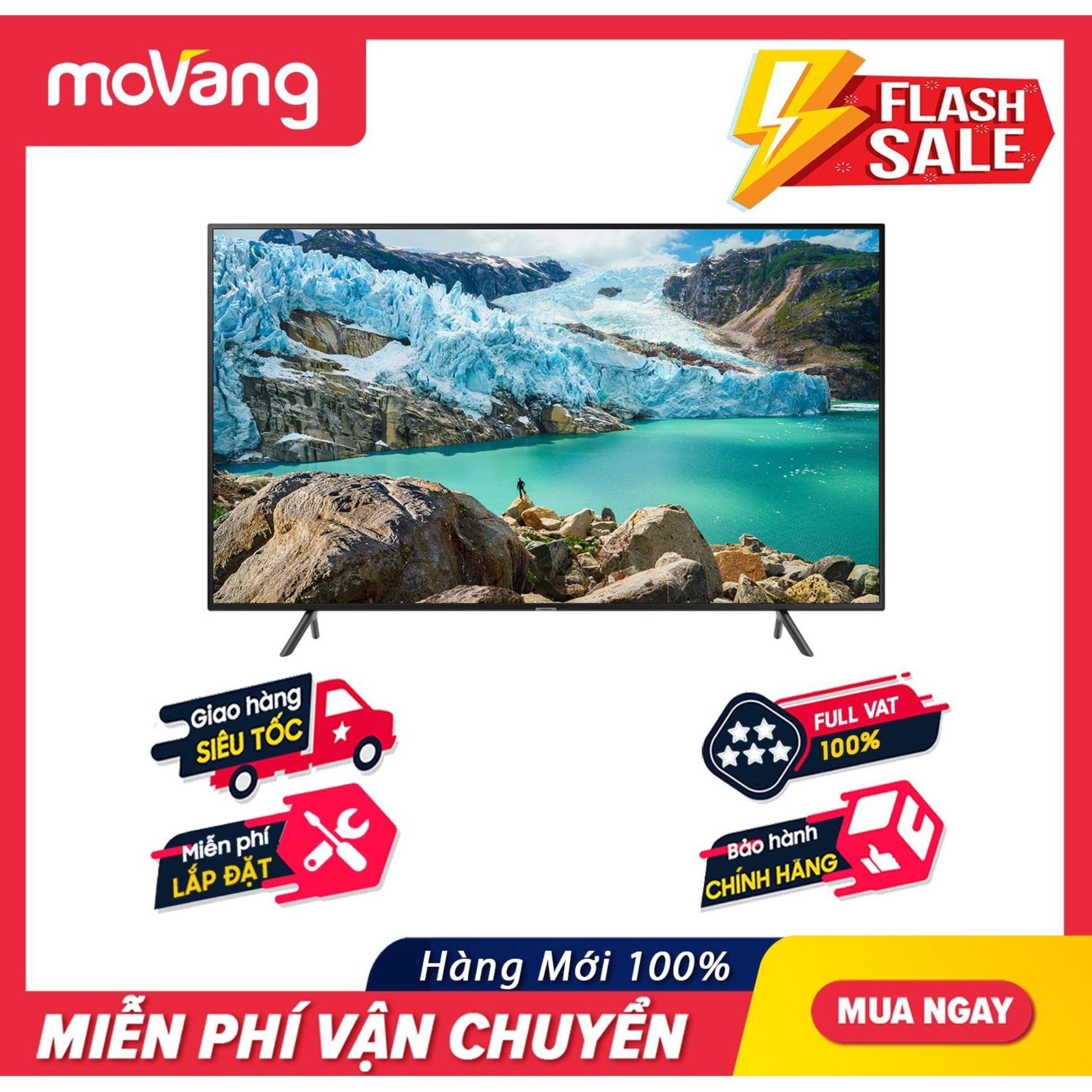 Bảng giá Smart Tivi Samsung 4K UHD 55 inch - Model UA55RU7200 (2019) - Công nghệ hình ảnh HDR, UHD Dimming, Purcolour + Điều khiển Tivi bằng điện thoại