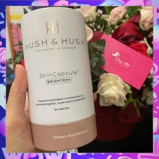 Viên Uống Trắng Da Mờ Thâm Nám Hush & Hush Skin Capsule Brighten+ Từ Mỹ (60v) thumbnail