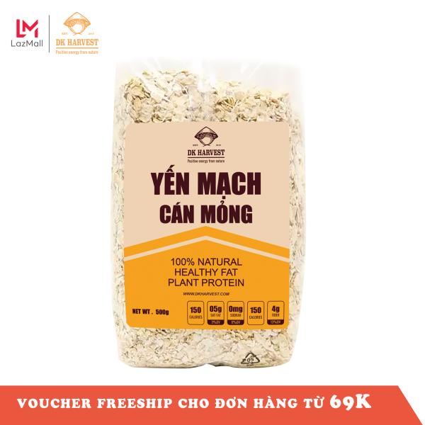 Yến Mạch DK Harvest nhập khẩu Úc - túi 500g, yến mạch nguyên hạt cán dẹp, ngũ cốc giảm cân, yến mạch úc tươi, yến mạch ăn liền, yến mạch giảm cân, yến mạch mix hoa quả