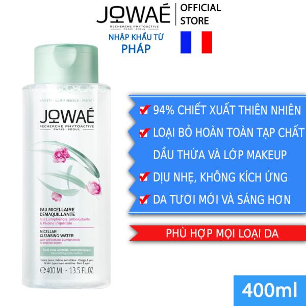 Nước tẩy trang loại bỏ Make up JOWAE 100% làm sạch da không nhờn dính và khô căng Mỹ phẩm thiên nhiên nhập khẩu Pháp MICELLAR CLEANSING WATER 400ml giá rẻ