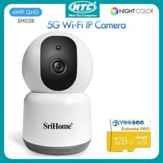 [HCM]Camera IP Wifi SriHome SH038 4.0MP Super HD 2K 2560P Hỗ trợ Wifi 2.4 5G xoay 355 độ (Trắng) - 4 phân loại tùy chọn - Nhất Tín Computer thumbnail