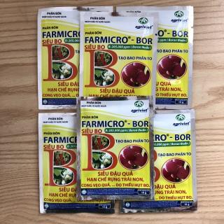 COMBO 50 GÓI PHÂN BÓN Farmicro Bor, Siêu BO, siêu đậu quả, hạn chế rụng quả non, cong vẹo quả do thiếu hụt Bo thumbnail