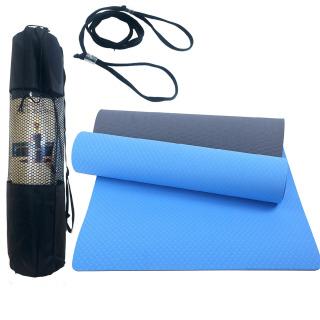 Thảm Tập Yoga, Thảm Yoga, Thảm Tập Gym 2 Lớp Dày 6mm Chính Hãng Amalife - Kèm Túi Đựng Thảm + Dây Buộc thumbnail