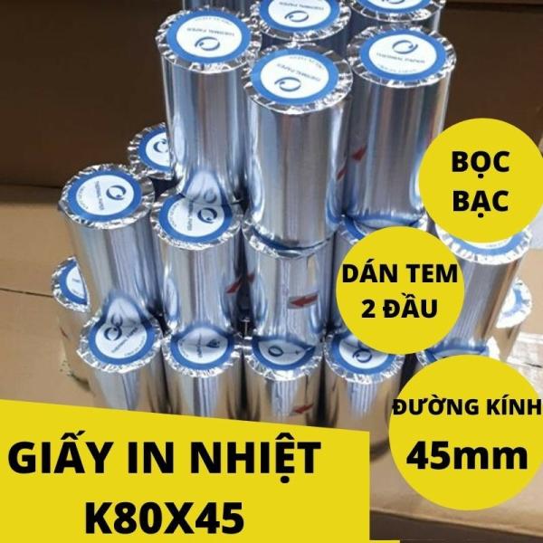 Mua 10 Cuộn Giấy in nhiệt Giấy in hóa đơn Giấy in bill k80 ( 80mm )