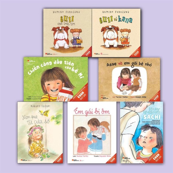 Sách Ehon Nhật Bản Dành cho bé gái ( Trọn bộ 7 Cuốn)