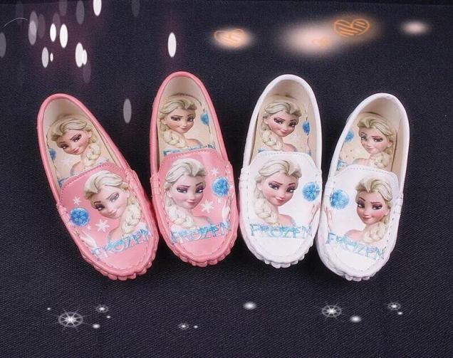 [SenXanh] Giày slip on trắng hồng da bóng cho bé gái giá rẻ