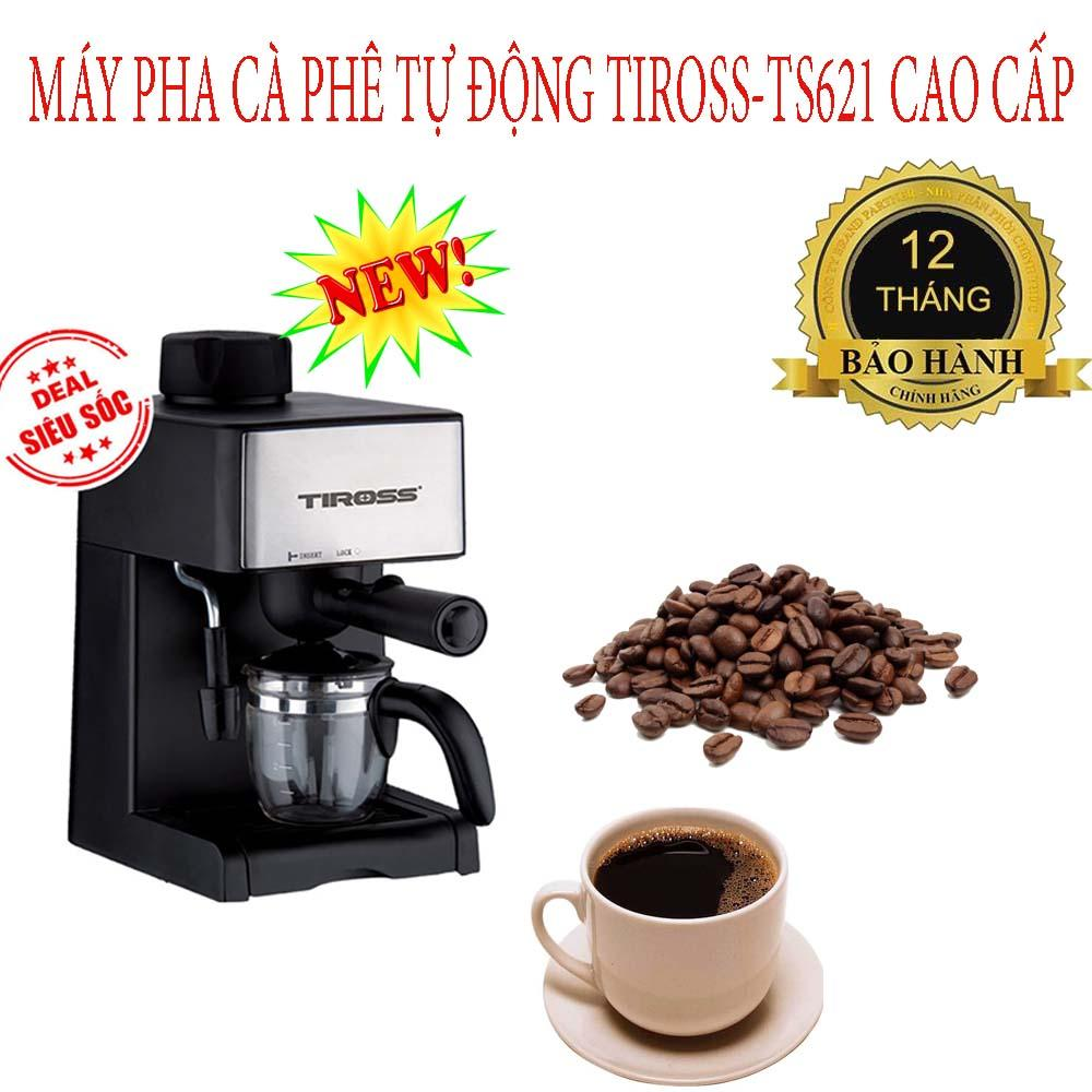 Dụng cụ pha cà phê, Máy pha cà phê tự động Tiross TS-621,công nghệ USA,màng lưới lọc inox,an toàn,tạo ra 1 hương vị cà phê tuyệt hảo,BH 1 ĐỔI 1,SALE 50%